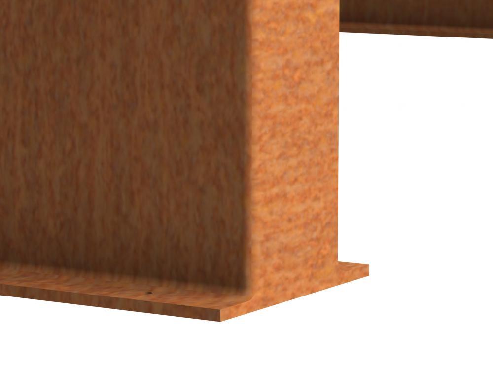 murs en acier corten cl tures remoises. Black Bedroom Furniture Sets. Home Design Ideas